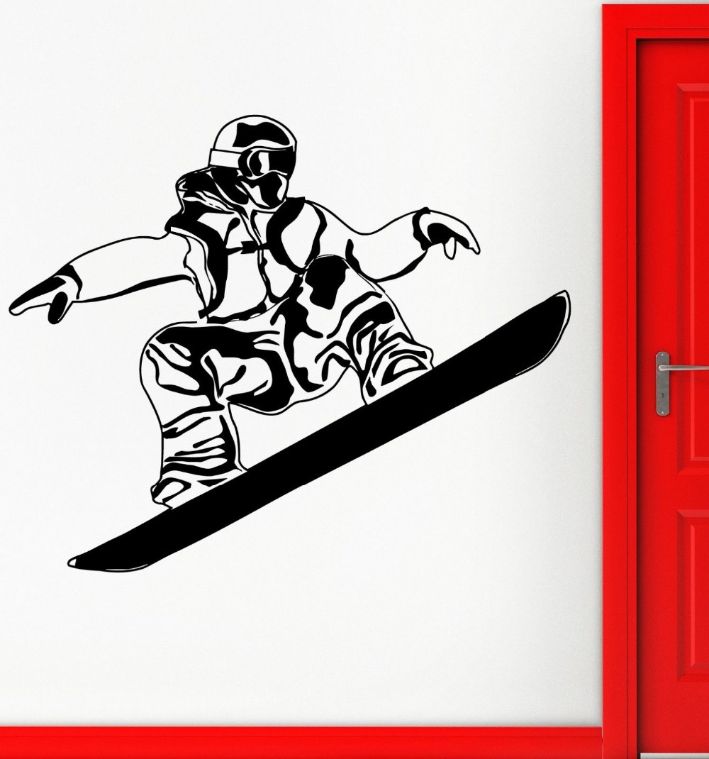Skiing Sticker Winter Sports Decal Muurstickers Posters Vinyl Wall Decals Pegatina Quadro Parede Decor Mural Skiing Sticker(China (Mainland))
