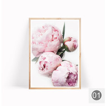 Nordic Minimalist Posters and Prints Pink Peony Flower Kids Room Decor Canvas Painting Wall Art Picture for Living Room No Frame(China)