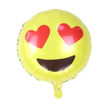 New Coming 18inch round foil balloon Love Eyes emoji for Party Decoration Children Toys Lovely Face emoji gift for kids