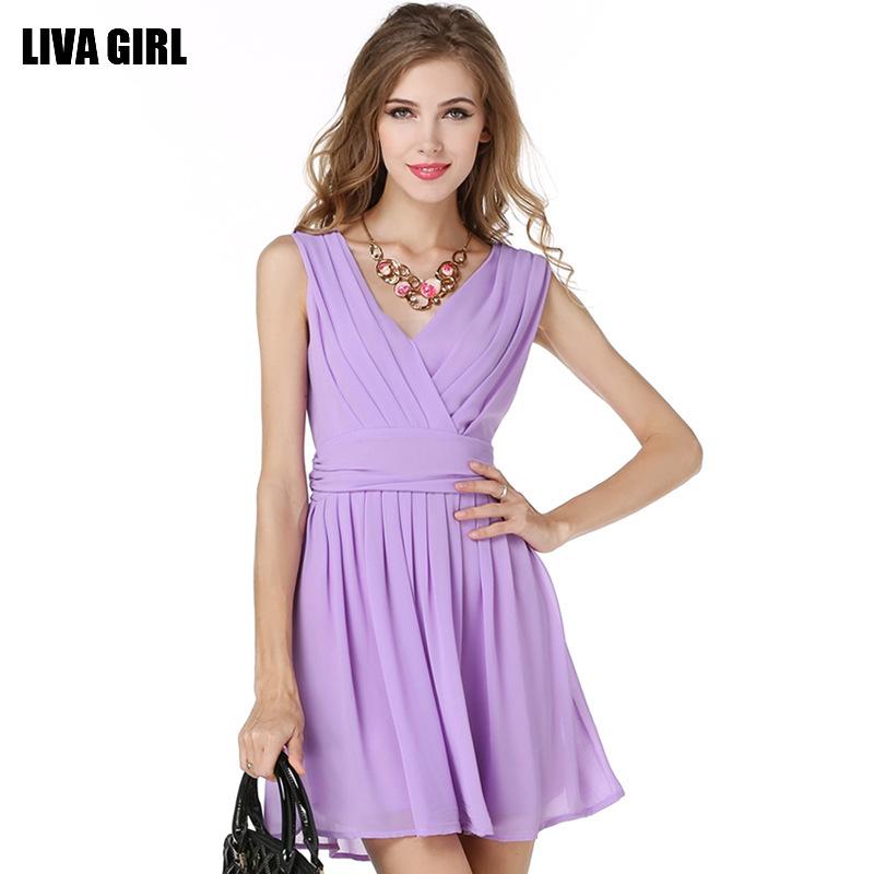 2015 New Chiffon V-neck sleeveless purple chiffon dress strap fairy skirt pleated skirt childОдежда и ак�е��уары<br><br><br>Aliexpress