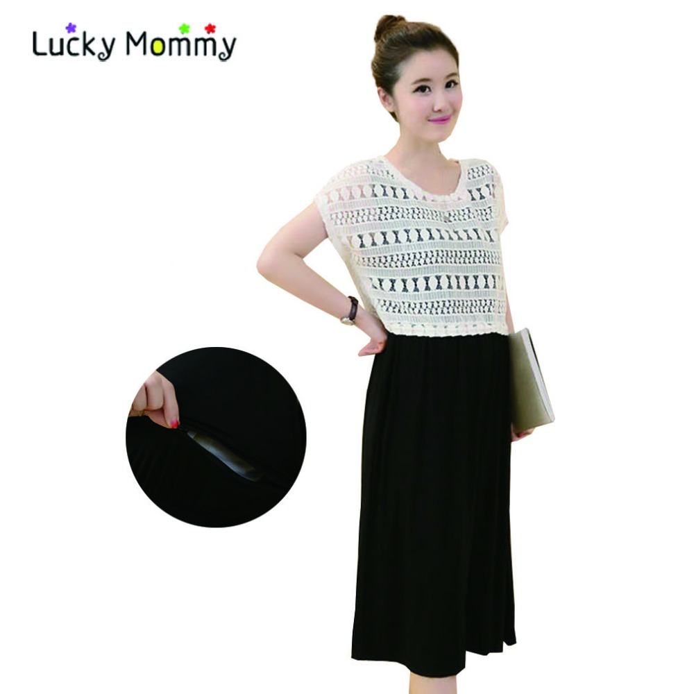 Summer Fashion Two Pieces Maternity Dresses Nursing Clothes Breastfeeding Dress Plus Size Maternity Wear Clothing for Feeding(China (Mainland))