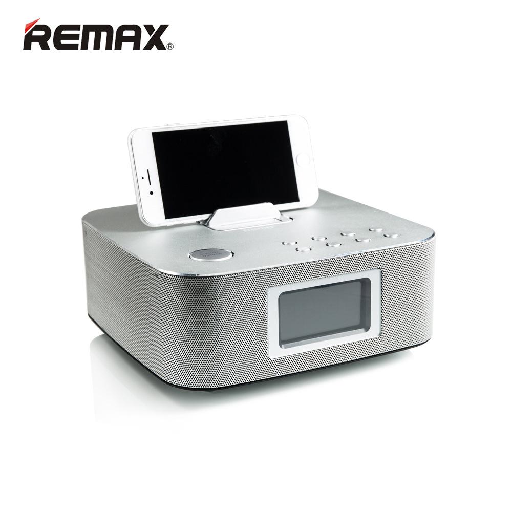 Remax Luxury H3C Desktop Smart Bluetooth Speakers With FM Radio Double Alarm Clock Remote Control TN LED Display Screen AUXLINE(China (Mainland))
