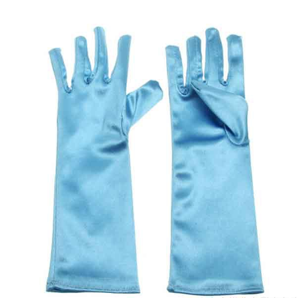 Novelty Character Classical Blue Xmas Gift Fashion Princess Girl Fancy Polyester Gloves(China (Mainland))