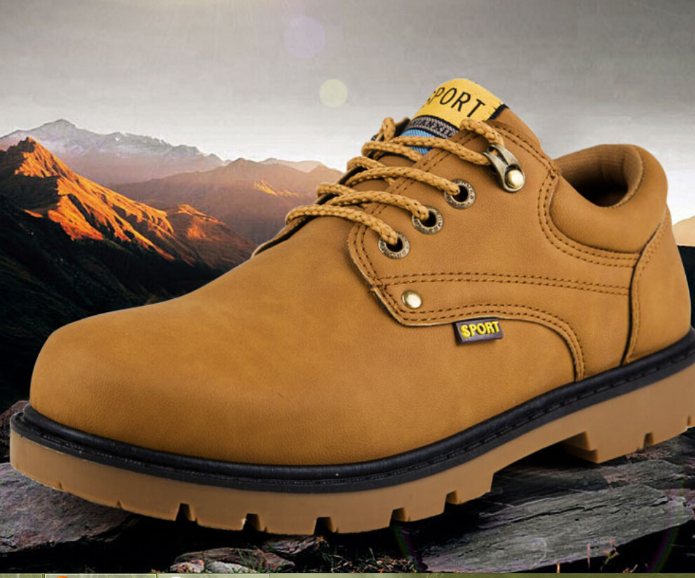 2015 New England desert boots outdoor work boots men low help