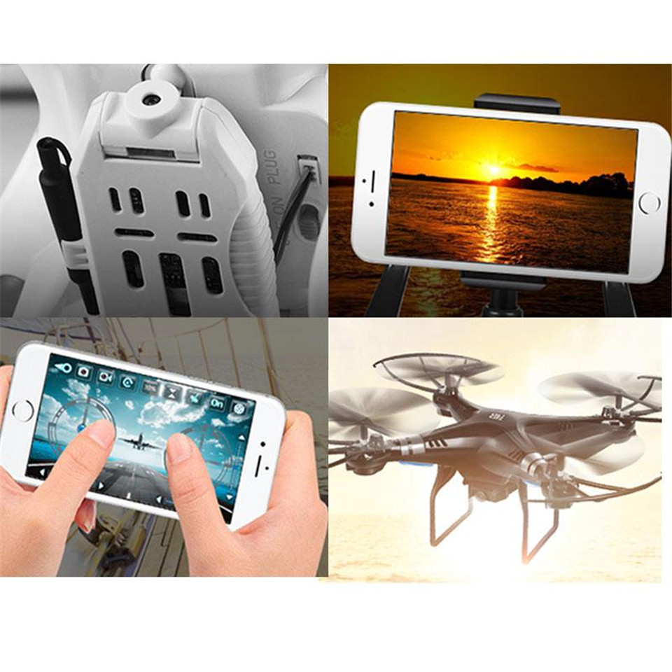 Phoota RC Quadcopter Helicopter With 2.0MP WiFi FPV HD Camera Real-time Transimission Remote Control RTF Drone Headless Mode