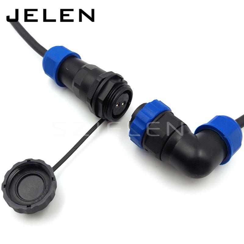 SD20TA-ZP, waterproof connector 2 pin plug socket , IP67, 2 pin power cable connector, Cable docking connector male and female(China (Mainland))
