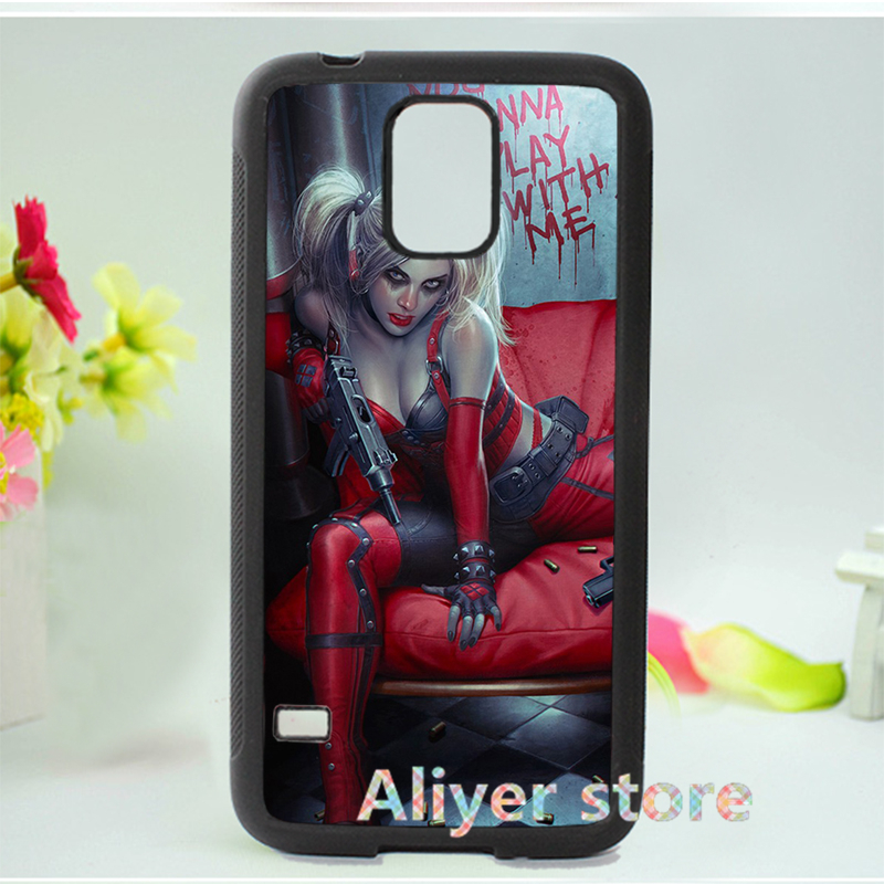 Batman Harley Quinn blood blonde fashion cell phone case cover for Samsung galaxy S3 S4 S5 Note 2 Note 3 E820(China (Mainland))