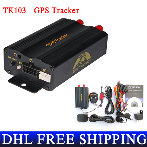 20pcs/lot DHL EMS Shipping Promotion TK103 Send Original Box Car GPS Tracker Car Alarm Portuguese PC Software(China (Mainland))
