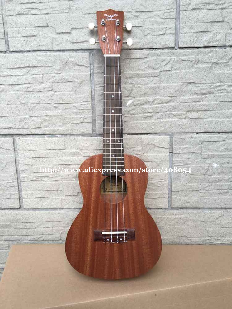 New 23 inch Acoustic Concert ukulele 23,Full Sapele Ukelele guitar,Hawaii guitar +nylon bag+strap,Nature Satin