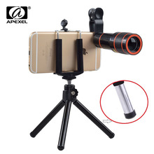 Buy 12X Zoom Mobile Phone Lens iPhone 7 6S plus Samsung S7 S6 edge Smartphones Clip Telescope Camera Lens Tripod APL-HS12X for $8.39 in AliExpress store
