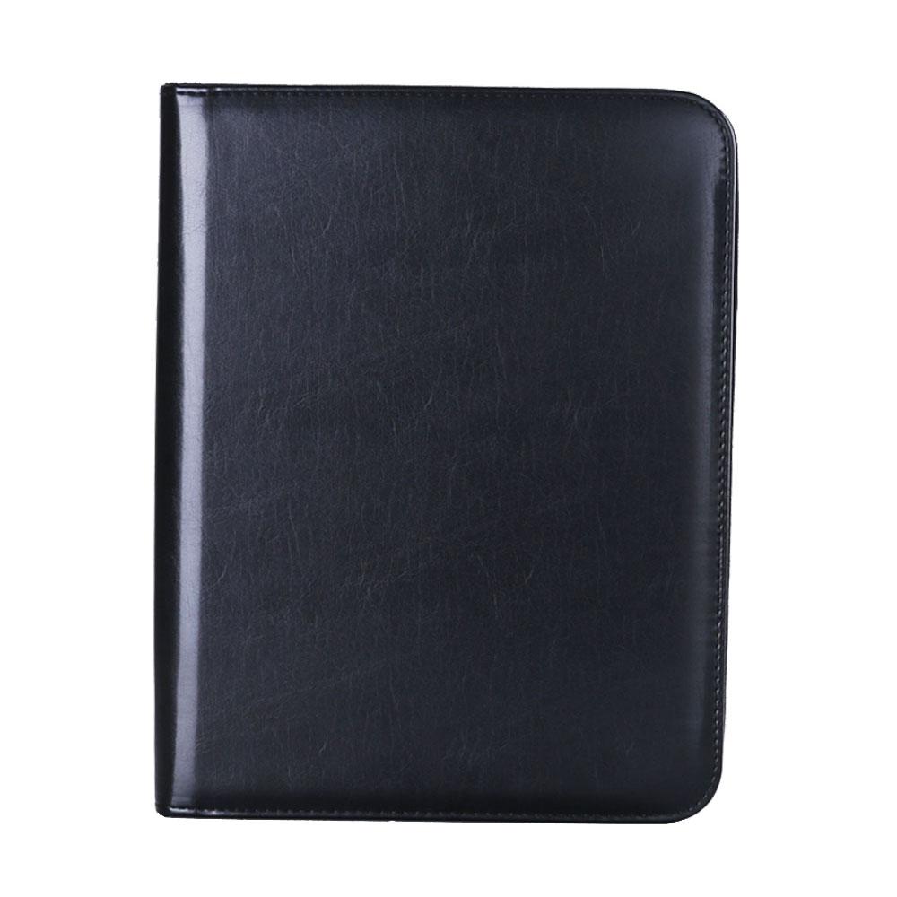 New arrive Portable Pu Leather manager folder portfolio Multifunction Padfolio A4 Folder Zipped Organiser Conference Folder 1013(China (Mainland))