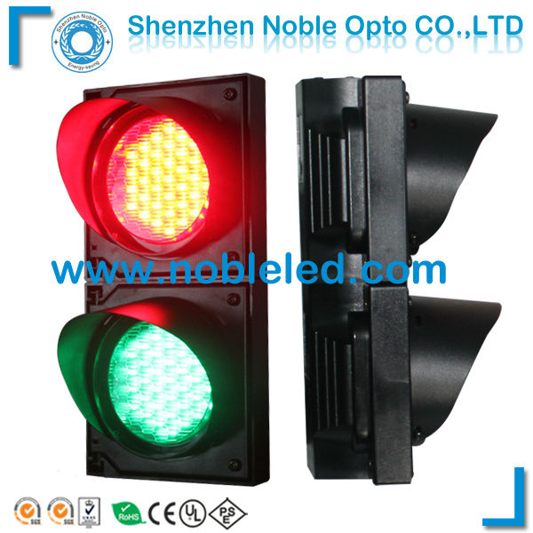 100mm two colors led traffic light for parking barrier in red green(China (Mainland))