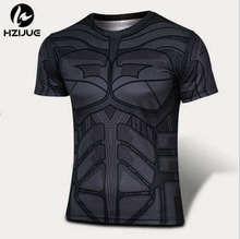 Marvel Super Heroes Captain America Men T shirt Compression Armour Base Layer Short Sleeve Thermal Under