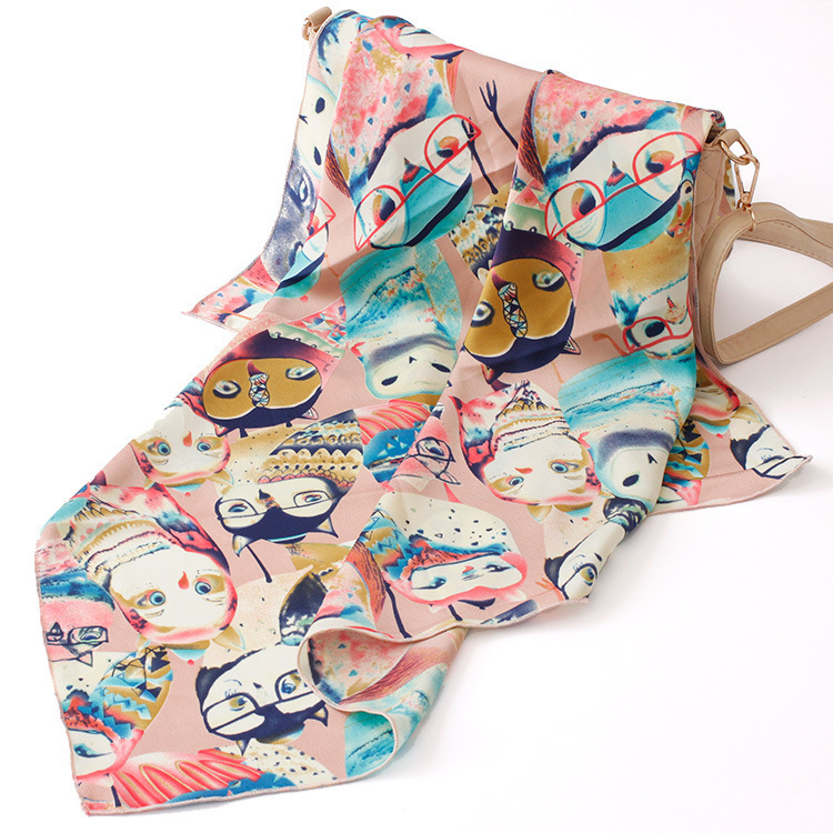 New 2016 Fashion Summer Owl Scarf Women Foulard Female Print Scarves Cachecol 70*70cm(China (Mainland))