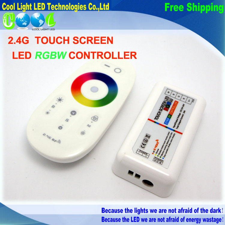 DC12-24A RGBW led controller 2.4G touch screen RF remote control for led stript,1set/lot(China (Mainland))