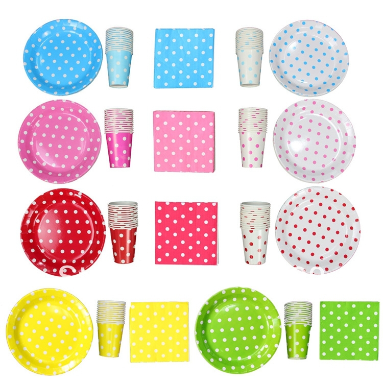 Pretty birthday Party supplies Accessories paper party Plates ...