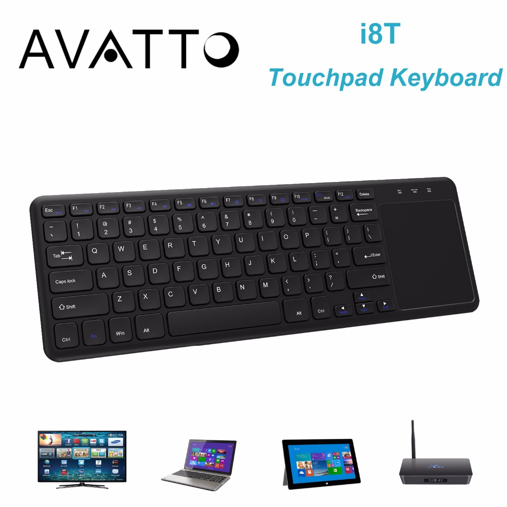 AVATTO i8 T Super Slim Gaming Keyboard 2.4 G Wireless with Touchpad for Desktop , Laptop , Smart TV , Android TV Box , Mac(China (Mainland))