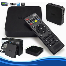MXQ Smart TV Box Kodi Amlogic S805 Quad-Core 1GB/8GB Fully Loaded WiFi 1080P H.265 HD Media Player Android TV Box Remote Control