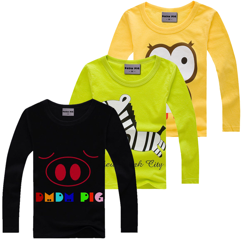 New arrival stylish cotton children t shirts long sleeve t for Kids t shirts in bulk