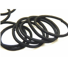 Wholesale Girl Male Elastic Hair Bands Tie Rope Ring Rubber Ponytail Holder Nylon Black Headwear For Women Hair Accessories(China (Mainland))