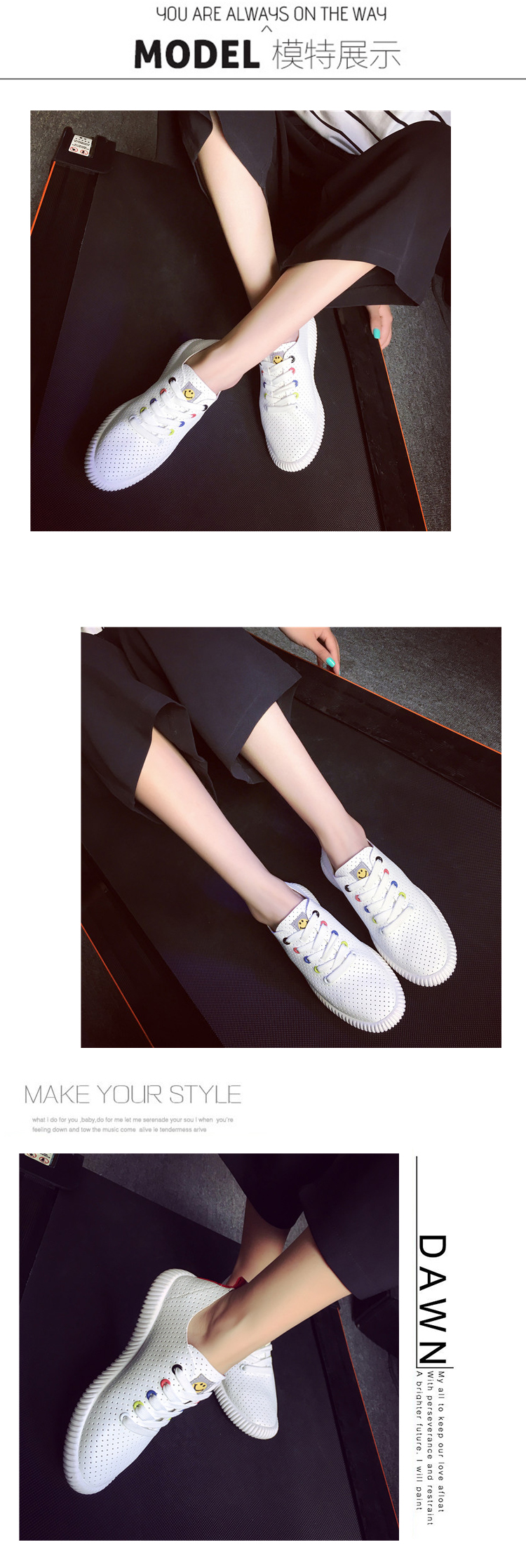 High Quality Summer Fashion Casual Shoes Hollow Breathable Air Mesh Flat Shoes Women Shoes