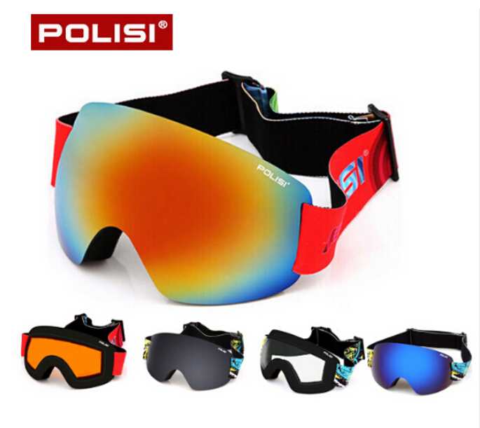 POLISI Professional Ski Glasses Double Layer Lens Snow Goggles UV Protection Anti-Fog Snowboard Skiing Eyewear, Multicolour Lens<br><br>Aliexpress