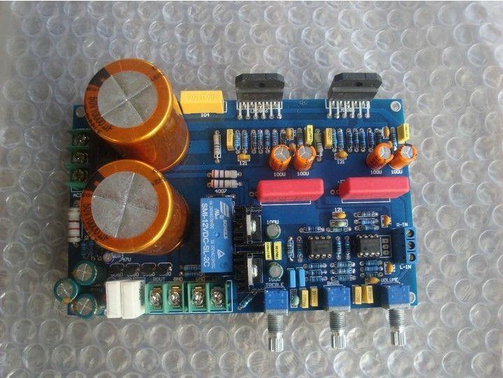 LM3886 UPC1237 stereo Dynamic feedback amplifier board 70W*2 20V-26V<br><br>Aliexpress