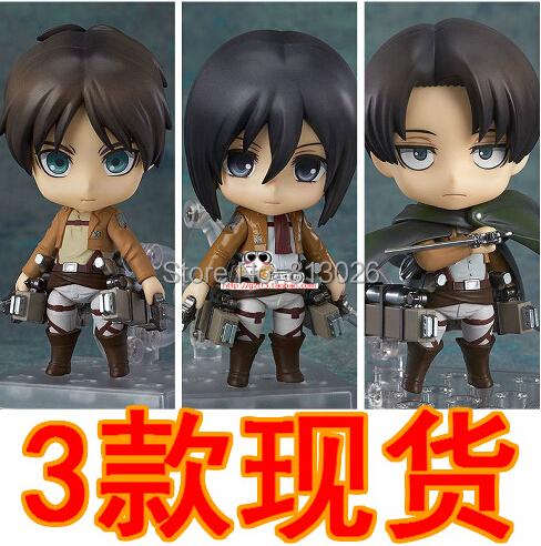 Attack On Titan Eren Jaeger Mikasa Ackerman no Kyojin Scouting Legion Levi Rivaille  PVC Action Figure Classic brinquedos Toys<br><br>Aliexpress