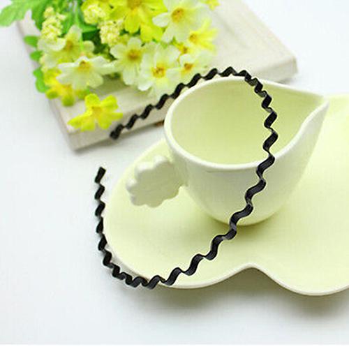 Mens Womens Unisex Black Wavy Hair Head Hoop Band Sport Headband Hairband Fashion(China (Mainland))