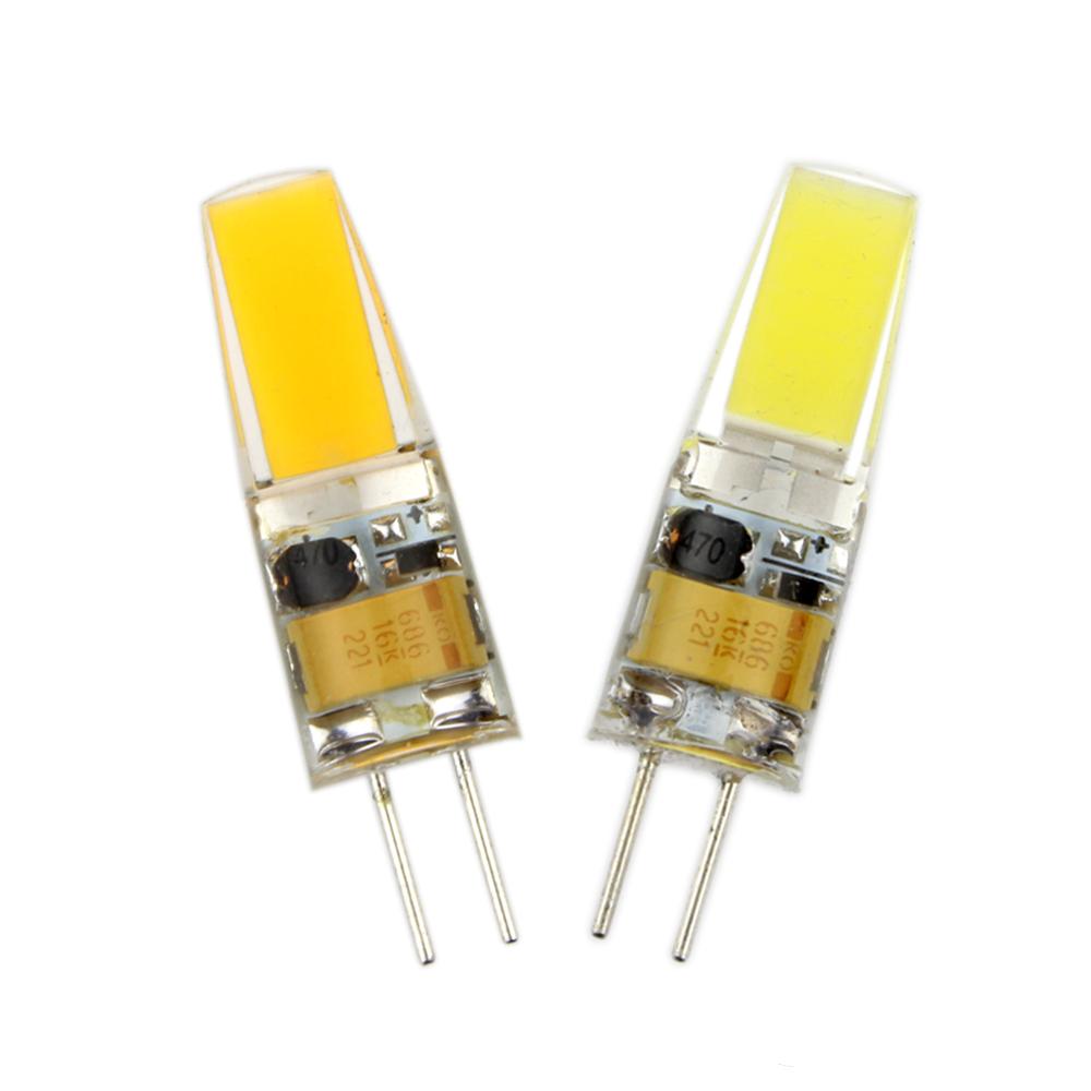 Из светодиодов G4 лампа накаливания AC / DC 12 В 220 В 6 Вт COB из светодиодов освещения фары-бесплатная заменить галоида прожектор люстра