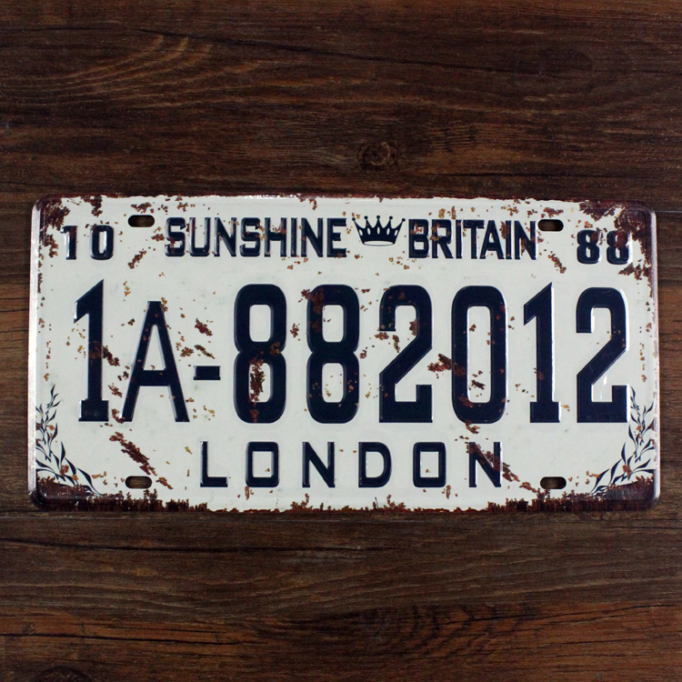 "Live Wall Art Tin signs ""London Sunshine Britain "" bar decor wall art craft home garage cafe wall art decor15X30CM Free shipping(China (Mainland))"