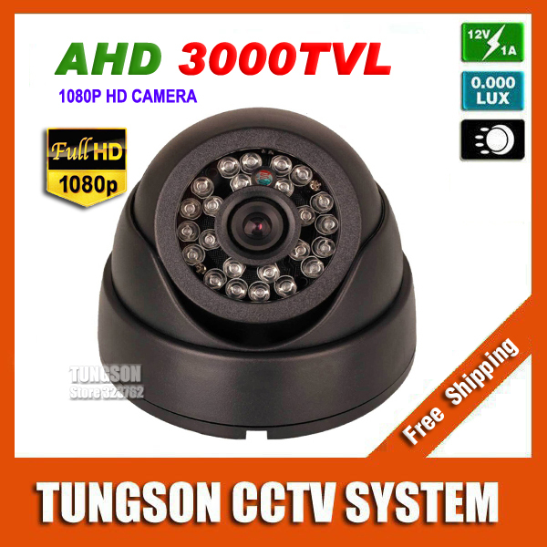 NEW Product HD 3000TVL Video Surveillance 2MP AHD Indoor Mini Dome infrared Security 1920*1080P CCTV Camera Free Shipping(China (Mainland))