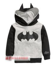 Retail! 1PC 2014 New Arrival Spring Autumn Child Boys  Hoodies Long Sleeve batman  T-shirts children sport sweatshirt(China (Mainland))