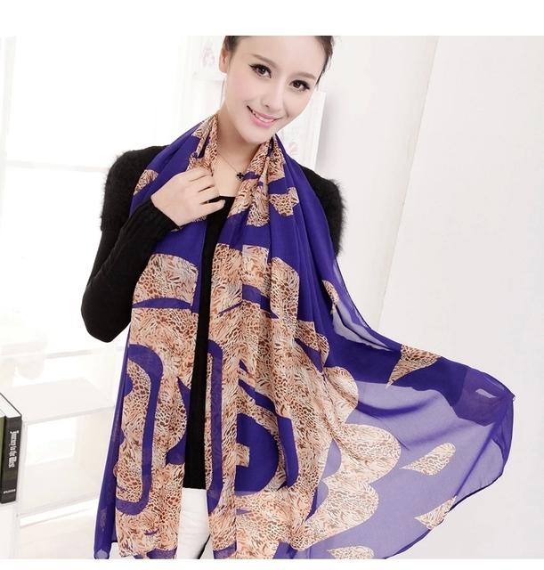 Оптовая продажа 3 цветов 165 * 50 см мода зима теплая шифоновый шарф женщин леопарда бархат шарфы