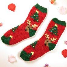 חדש 2018 נשים גרב החורף חם חג המולד מתנות גרביים רך כותנה חמוד סנטה קלאוס צבי גרבי kawaii חג המולד דקור חג המולד גרביים(China)