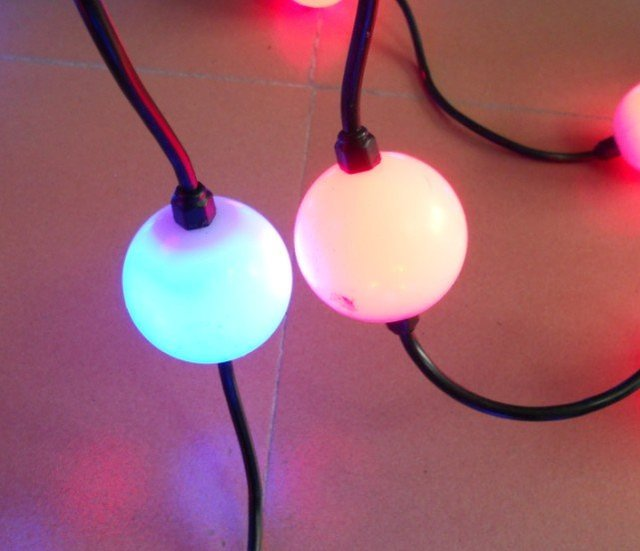 50mm diameter full color ball type led pixel module, pixel node,DC12V input,3pcs 5050 RGB+WS2811