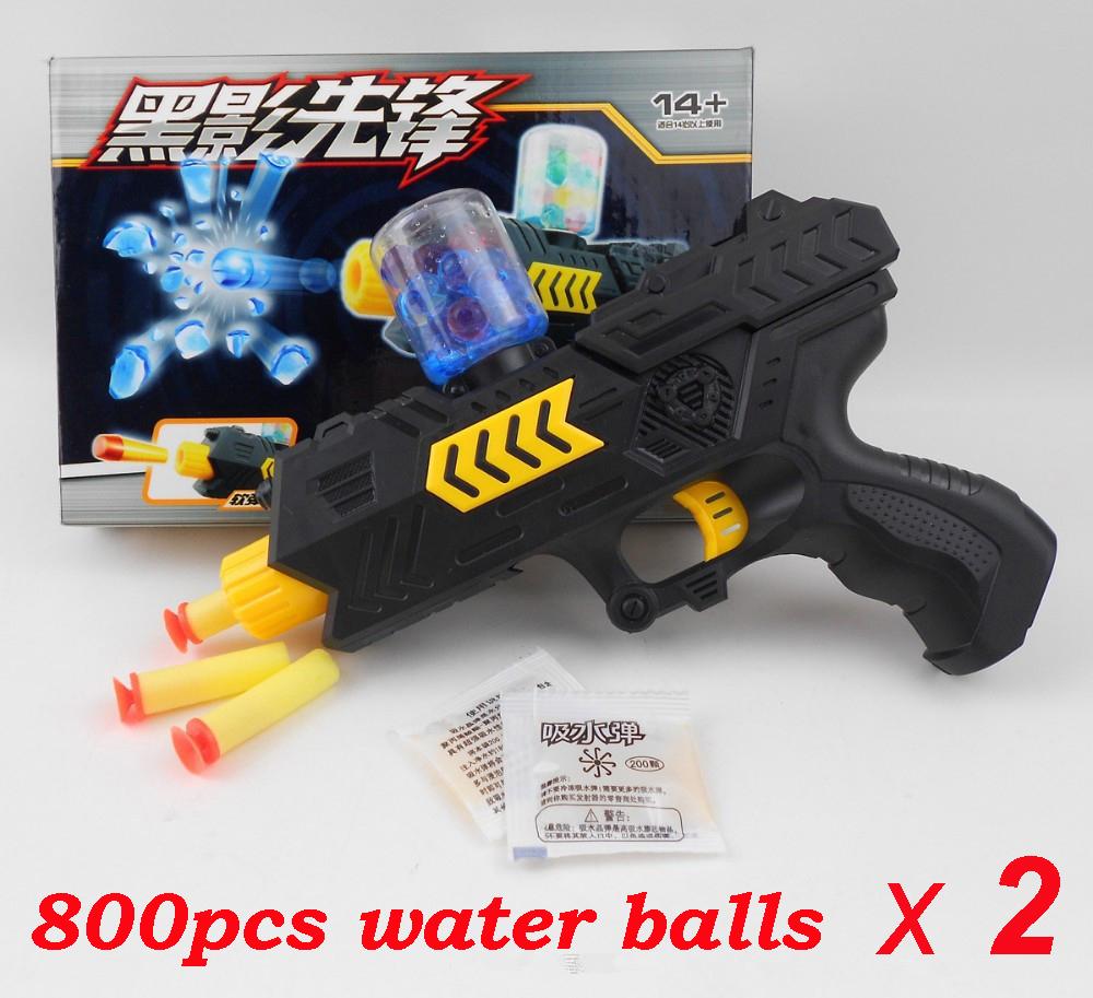 2 Pcs New CS Game Shooting Water Crystal Gun 2-in-1 Nerf Air Soft Gun Airgun Paintball Gun Pistol & Soft Bullet Gun Plastic Toys(China (Mainland))