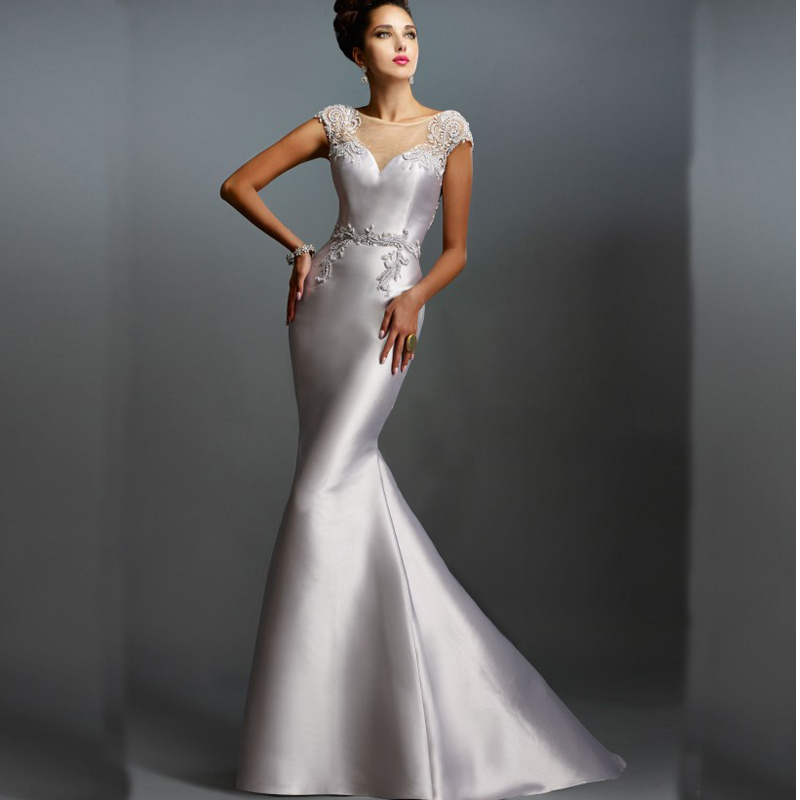 Silver Evening Gown Mother of The Bride Promotion-Shop for ...