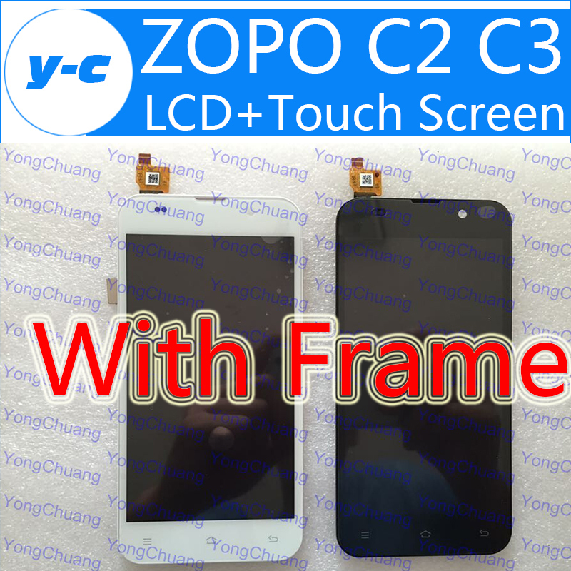 Zopo C2 LCD Display+Touch Screen Original Digitizer Glass Touch Panel For ZOPO ZP980 C3 ZP980+  1920x1080 5.0inch Cell Phone