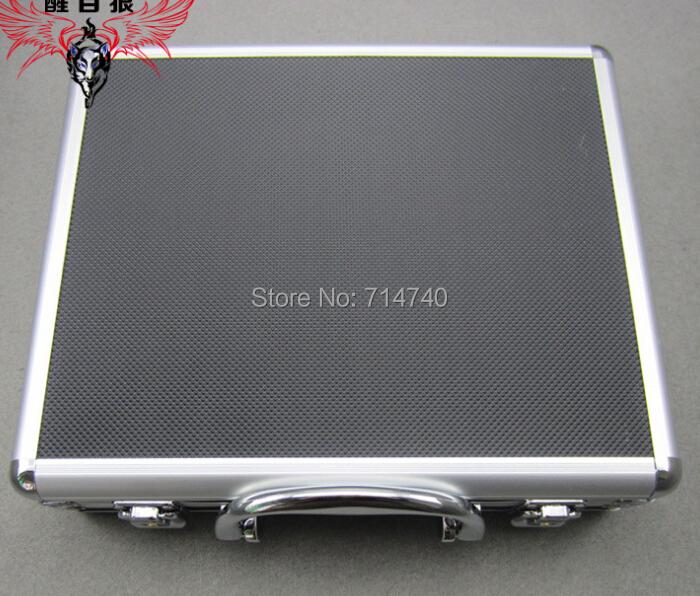 Tactical toolbox aluminium tool case magic props file storage Hard Carry carrying box tool for Hand Gun Locking Pistol 28X23X8CM(China (Mainland))