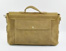 Fashional Imported Crazy Horse Leather Men's Business Briefcase Handbag Shoulder Bag Computer Bags 14 Inch For Men(China (Mainland))