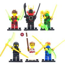 6pcs/lot Phantom Ninja Mini Figure Moive Super Hero Kid Baby Toy Building Blocks Sets Model Toys Minifigures Brick