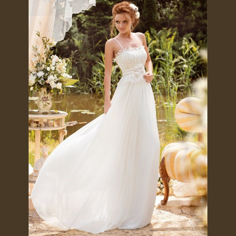 Buy 2015 beach wedding dresses sexy for Plain wedding dresses with straps