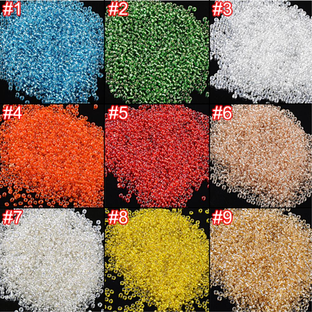 25g Diameter 2mm Top Quality Glass Seed Beads Round OpaqueColorful Glass Rondelle Seed Beads Jewelry Making DIY(China (Mainland))