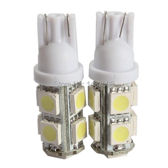 2PCS 194 168 W5W T10 9SMD-5050 LED White Light Car Tail Lamp Bulb Bright High Quality(China (Mainland))