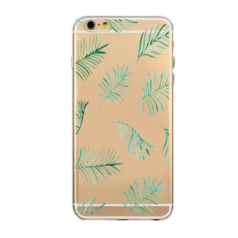 Top Selling Case For iPhone 5c 5s 6/ 6s Plus Transparent Scenery Patterns Back Cover Fundas TPU Ultra Thin Mobile Phone Bags