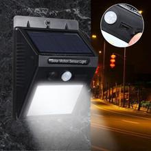 Buy SMD 2835 Waterproof 20 LED Solar Light Outdoor LED Garden Light Solar Power PIR Motion Sensor Pathway Wall Lamp for $10.47 in AliExpress store