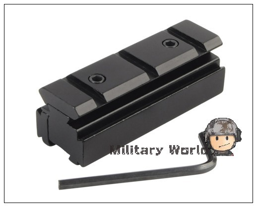 2pcs lot Tactical Military Airsoft Accessory Rail Dovetail 11mm to 20mm Weaver Picatinny Rail Adapter Hunting