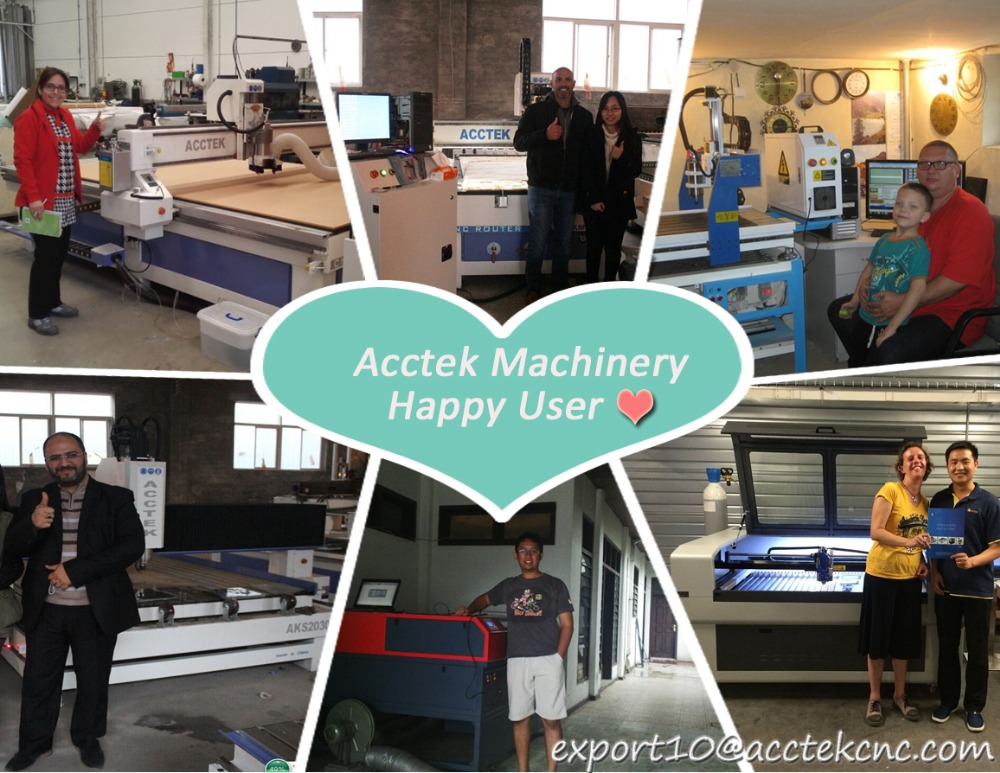 1.Acctek Machinery Happy user show