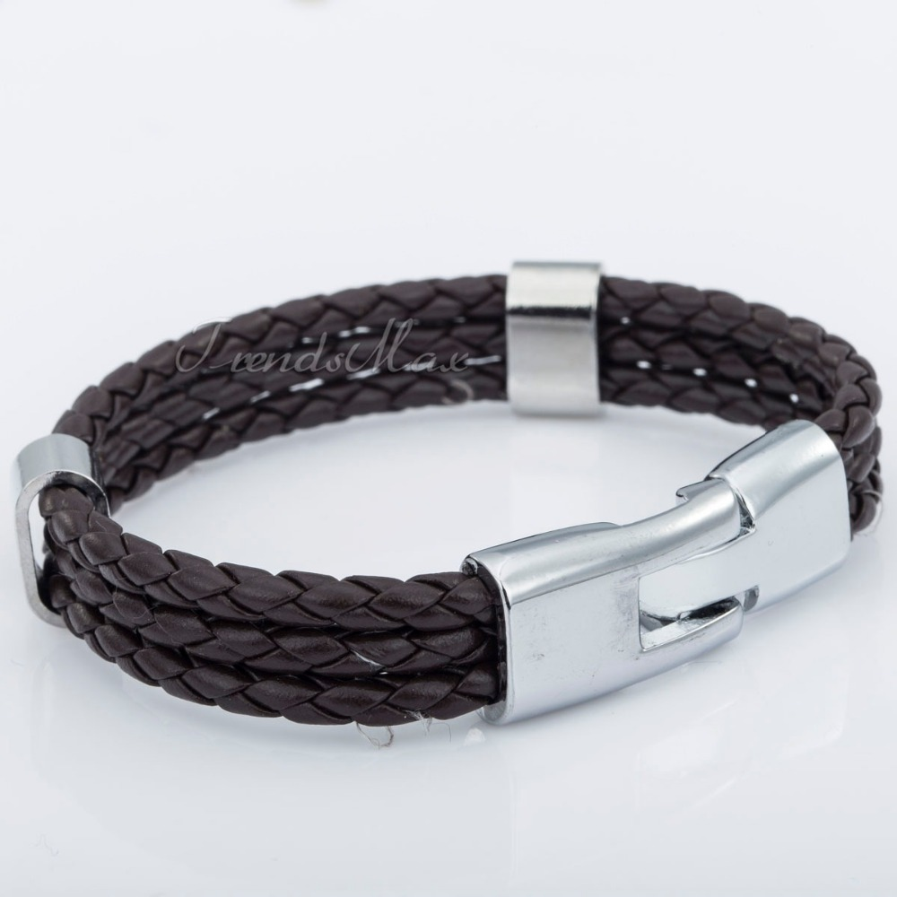 Bulk Sale 8inch 12mm Fashion MENS Womens Leather Bracelet Jewelry 6 Colors Rope Surfer Wrap Wristband